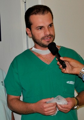 O médico cirurgião Dr. Luiz Fernando Gozalo que está atuando no Hospital 19 de Março.