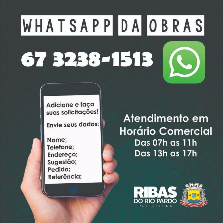 dfa4a972a Secretaria de Obras conta agora com número de WhatsApp para ...