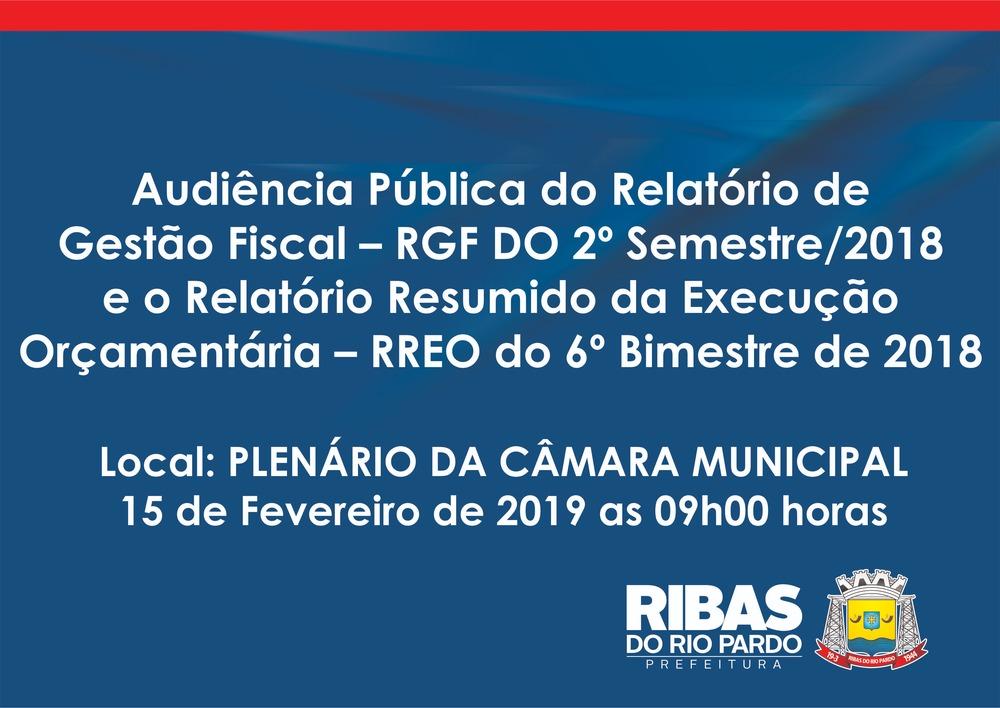 Audiência Pública do Relatório de Gestão Fiscal – RGF DO 2º Semestre ... fbc139b1e5