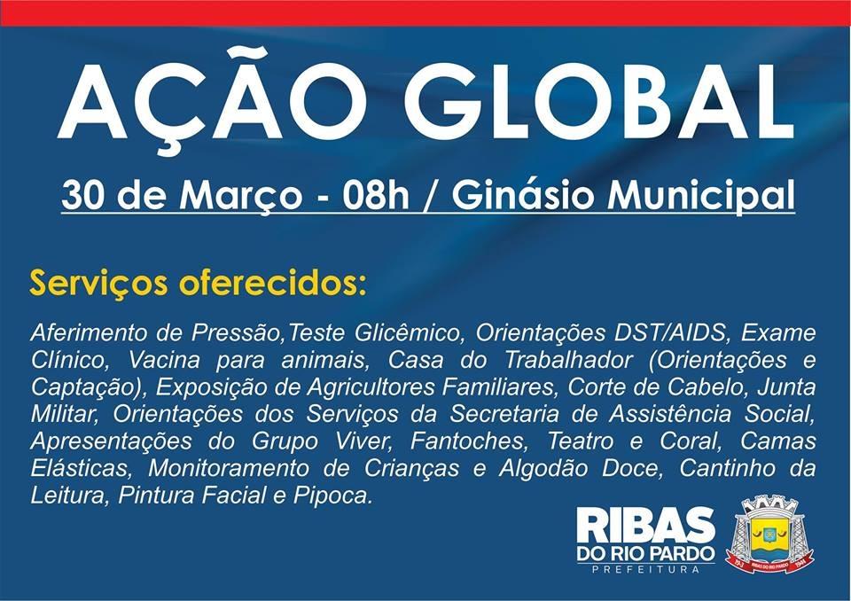 9108e4696 Ação Global será realizada em Ribas no próximo dia 30 de março com ...